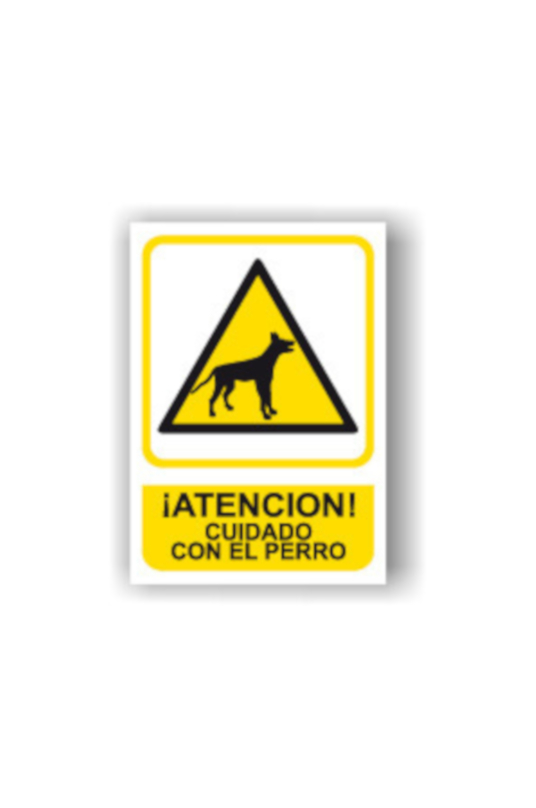 Señal de Cuidado con el Perro